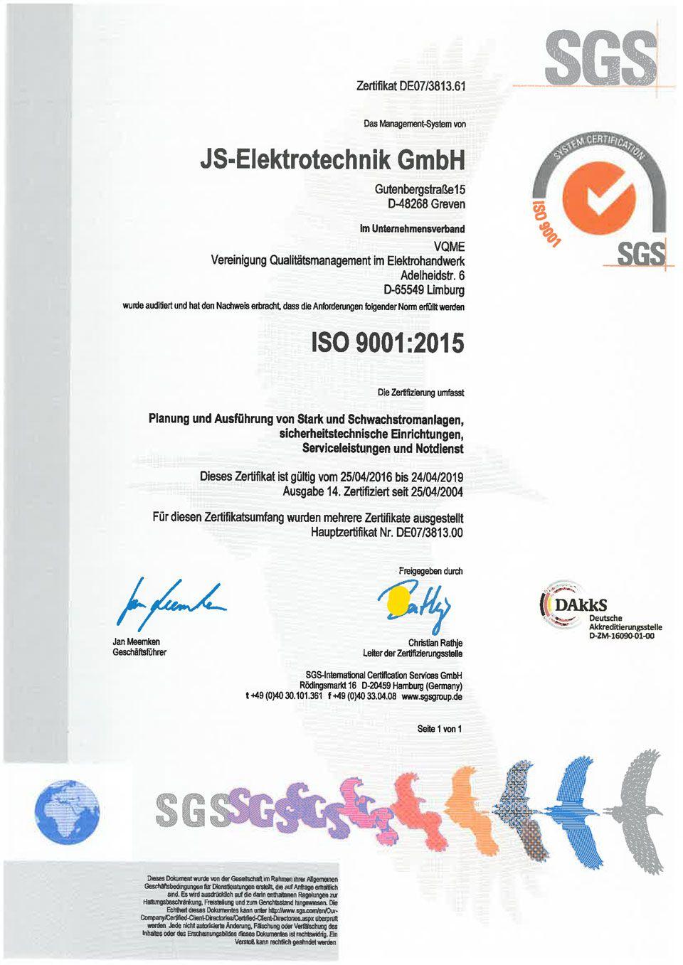 Downloads - Ihr Elektriker in Greven - JS-Elektrotechnik